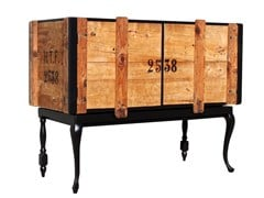- Reclaimed wood sideboard with doors THE BLACK - ICI ET LÀ