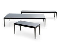 - Rectangular glass coffee table MICHEL | Glass coffee table - B&B Italia