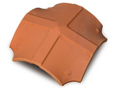 - 4 ways clay ridge tile 4 ways ridge tile - Gruppo Industriale Tegolaia