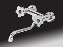 - 2 hole wall-mounted kitchen tap GIO' CRYSTAL | Wall-mounted kitchen tap - Giulini G. Rubinetteria