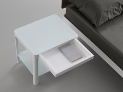 - Rectangular bedside table with drawers PLANE | Crystal bedside table - iCarraro italian makers