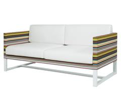 - 2 seater Sunbrella® garden sofa STRIPE | 2 seater sofa - MAMAGREEN