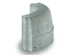 - Wheel stop parking kerb C12 90° R23 - Gruppo Industriale Tegolaia
