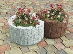 - Concrete Flower pot TARSIA - Gruppo Industriale Tegolaia