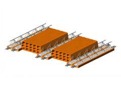 - Hollow clay floor slab block Bausta Double Beam - FORNACI SCANU