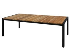 - Rectangular aluminium and wood dining table ZUDU | Dining table - MAMAGREEN