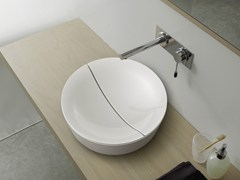 - Countertop round ceramic washbasin MIZU | Round washbasin - Scarabeo Ceramiche