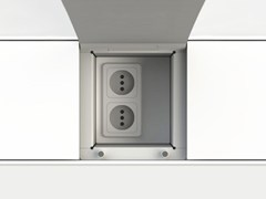 - Kitchen equipped track EASYRACK KITCHEN FLAT | Eletrical socket - DOMUSOMNIA