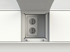 - Kitchen equipped track EASYRACK KITCHEN STEP | Eletrical socket - DOMUSOMNIA