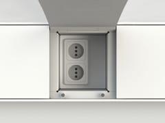 Accessorio per canale attrezzatoEASYRACK KITCHEN STEP | Presa elettrica - DOMUSOMNIA