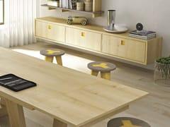 - Suspended wooden sideboard SUNNY | Suspended sideboard - Domus Arte