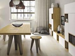 - Freestanding wooden storage wall FUNNY   Freestanding storage wall - Domus Arte