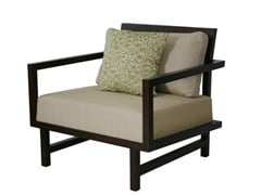 - Upholstered armchair with armrests CUBULAR   Armchair with armrests - WARISAN