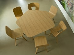 - Wood veneer table TRIA | Table - Colé Italian Design Label