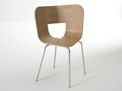 - Stackable multi-layer wood chair TRIA METAL - Colé Italian Design Label