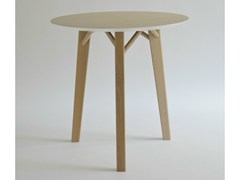 - Round wood veneer table TRIA | Round table - Colé Italian Design Label