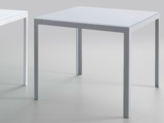- Square crystal and steel table TYPE   Crystal and steel table - iCarraro italian makers
