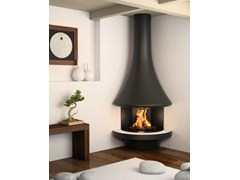 - Corner wall-mounted fireplace EVA 992 | Corner fireplace - JC Bordelet Industries