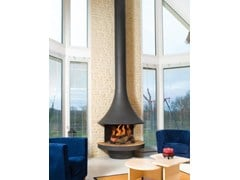 - Open curved wall-mounted fireplace EVA 992 | Curved fireplace - JC Bordelet Industries