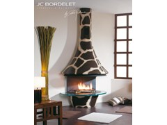 - Wood-burning wall-mounted fireplace EVA 992 GIRAFE - JC Bordelet Industries
