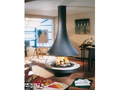 - Wood-burning central curved fireplace EVA 992 | Wood-burning fireplace - JC Bordelet Industries
