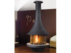 - Central metal fireplace with panoramic glass EVA 992 | Metal fireplace - JC Bordelet Industries