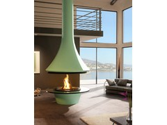 - Wood-burning central metal fireplace EVA 992 | Fireplace - JC Bordelet Industries