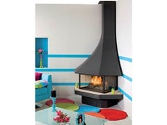 - Corner closed wall-mounted fireplace JULIETTA 985 | Corner fireplace - JC Bordelet Industries