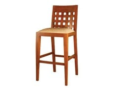 - Wooden counter stool with footrest CUTAWAY | Counter stool - WARISAN