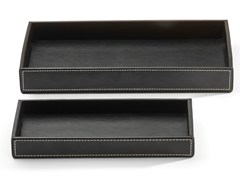 - Imitation leather storage box BROWNIE TAB M/L - DECOR WALTHER