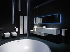 - Lacquered single wall-mounted vanity unit K.FLY | Lacquered vanity unit - RIFRA