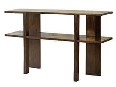 - Rectangular teak console table NEO PRIMITIVE | Teak console table - WARISAN