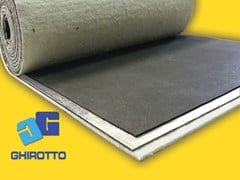 - Sound insulation and sound absorbing felt with lead-laminate PIOMBOPAV ROLL DUO - GHIROTTO TECNO INSULATION