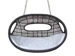 - 2 Seater rattan garden hanging chair ONDA | Garden hanging chair - WARISAN