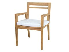 - Teak garden chair with armrests NEO ANGULO | Chair with armrests - WARISAN