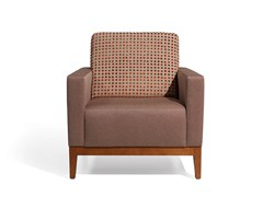 - Upholstered armchair with armrests BEKET MAD - Fenabel - The heart of seating