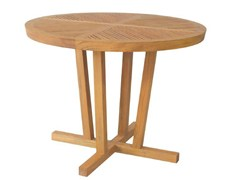 - Garden table with 4-star base KOROGATED | Round table - WARISAN