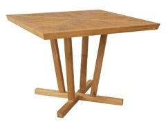- Garden table with 4-star base KOROGATED | Square table - WARISAN