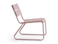 - Sled base aluminium garden armchair CORAIL | Sled base easy chair - OASIQ
