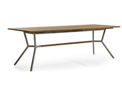 - Rectangular teak garden table REEF | Dining table - OASIQ