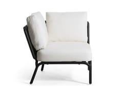 - Upholstered modular garden armchair YLAND | Armchair - OASIQ