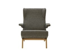 - Fabric armchair with armrests ARCHI | Armchair with armrests - ROSET ITALIA