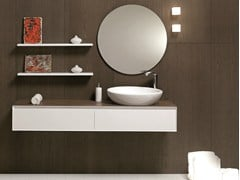 - Wall-mounted vanity unit with drawers LU.20 | Vanity unit - Mobiltesino
