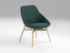 - Upholstered fabric chair EZY WOOD LOW - Offecct
