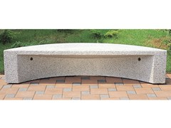 - Backless concrete Bench ARCO - Gruppo Industriale Tegolaia