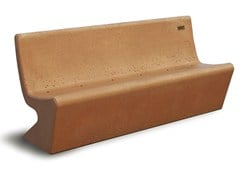 - Concrete Bench with back SIESTA - Gruppo Industriale Tegolaia