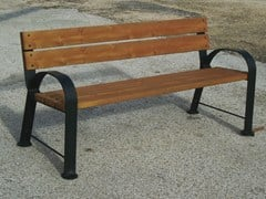 - Steel and wood Bench with armrests with back CALLEJA - Gruppo Industriale Tegolaia