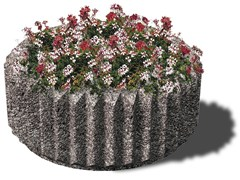 - Concrete Flower pot CORONA - Gruppo Industriale Tegolaia