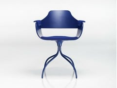 - Swivel trestle-based aluminium chair SHOWTIME | Aluminium chair - BD Barcelona Design