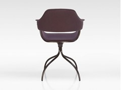 - Upholstered trestle-based fabric chair SHOWTIME | Trestle-based chair - BD Barcelona Design